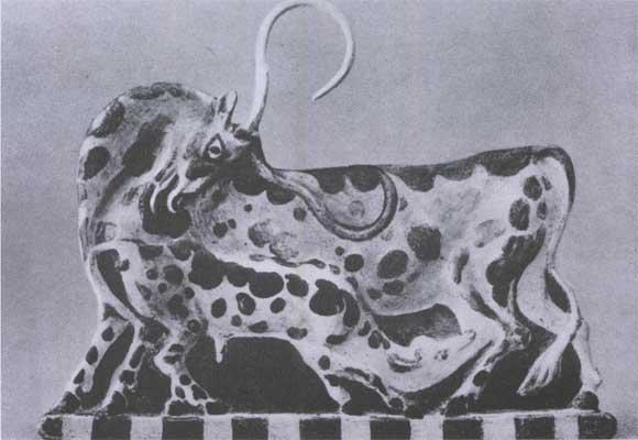 Корова с теленком из кносса 18—16 вв до